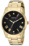 GUESS  Gold-Tone Stainless Steel Bracelet Watch with Black Genuine Diamond Dial ...