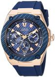 GUESS Men's Stainless Steel Casual Silicone Watch