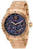 Invicta Men's Specialty Quartz Watch with Stainless Steel Strap, Rose Gold, 22 (...