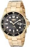 Invicta Men's Pro Diver Quartz Watch with Stainless Steel Strap, Gold, 22 (Model...