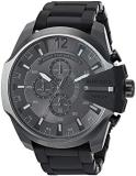 Diesel Men's Mega Chief Analog-Quartz Watch with Stainless-Steel-Plated Strap, B...