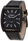 Jorg Gray 5200 Collection Black Face/Black Leather Strap Watch